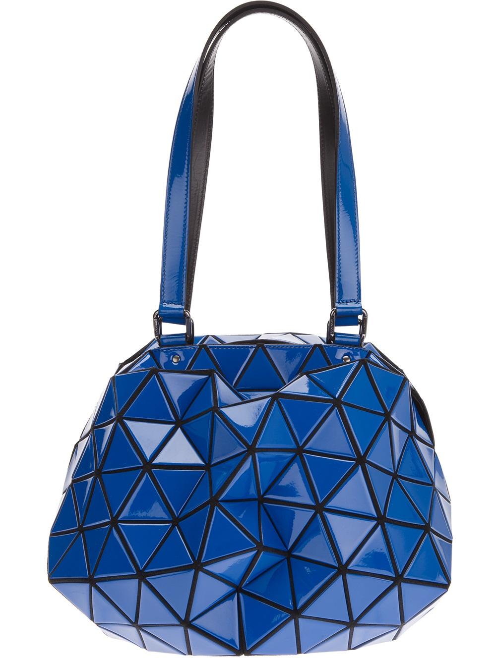 Bao Bao Issey Miyake Geometric Panel Shoulder Bag In Blue