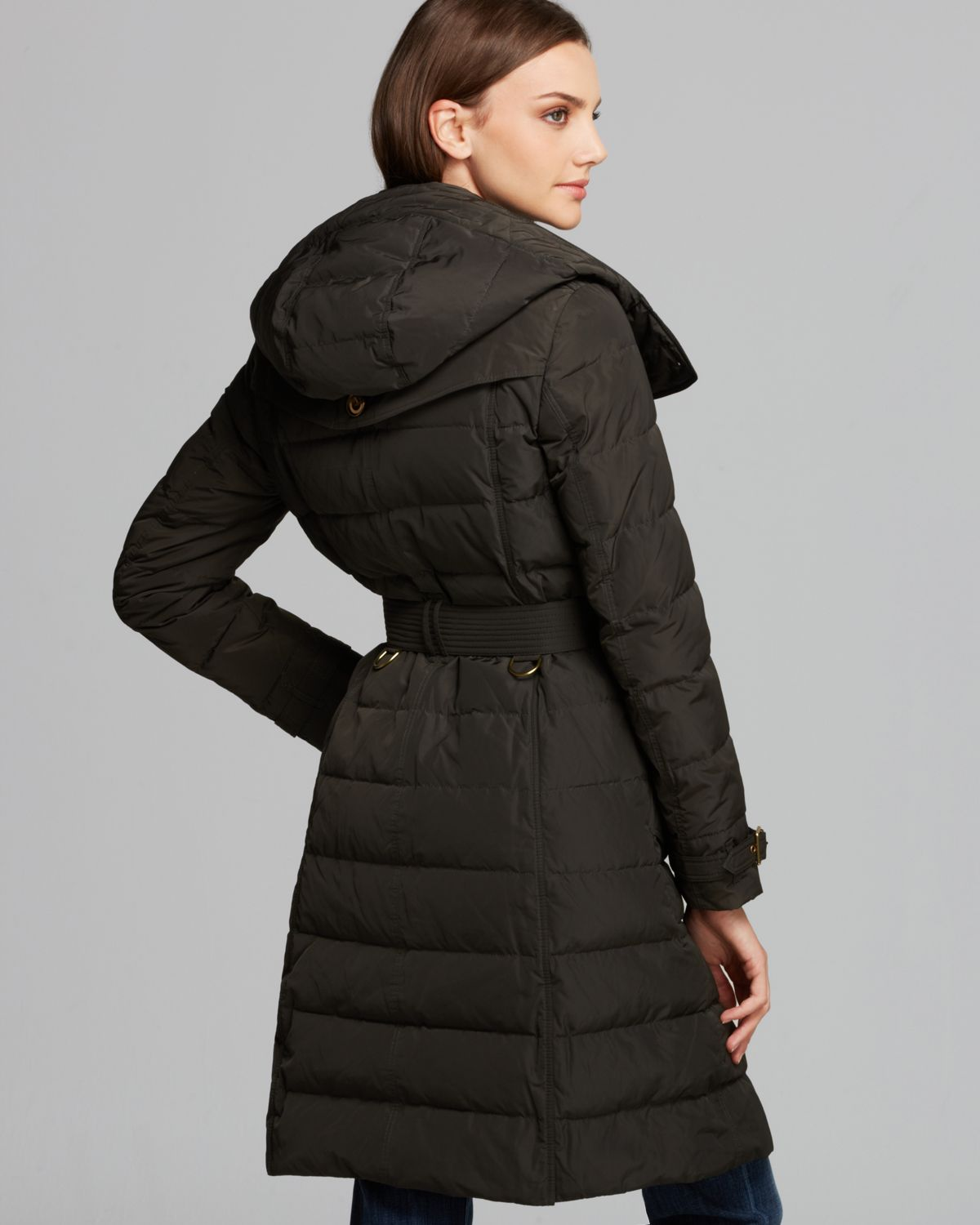 Burberry brit Allerdale Down Puffer Coat in Green | Lyst