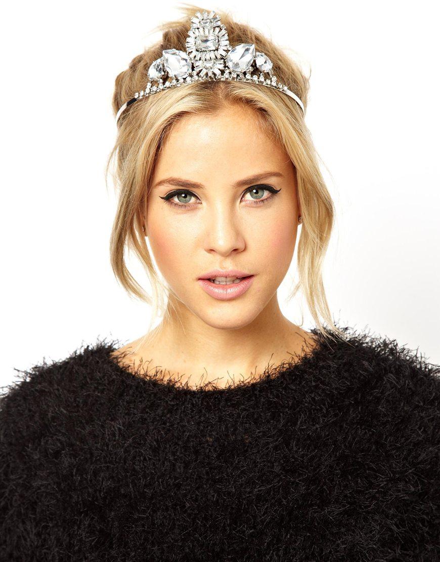 Asos Premium Jewel Burst Crown Headband In Metallic Lyst