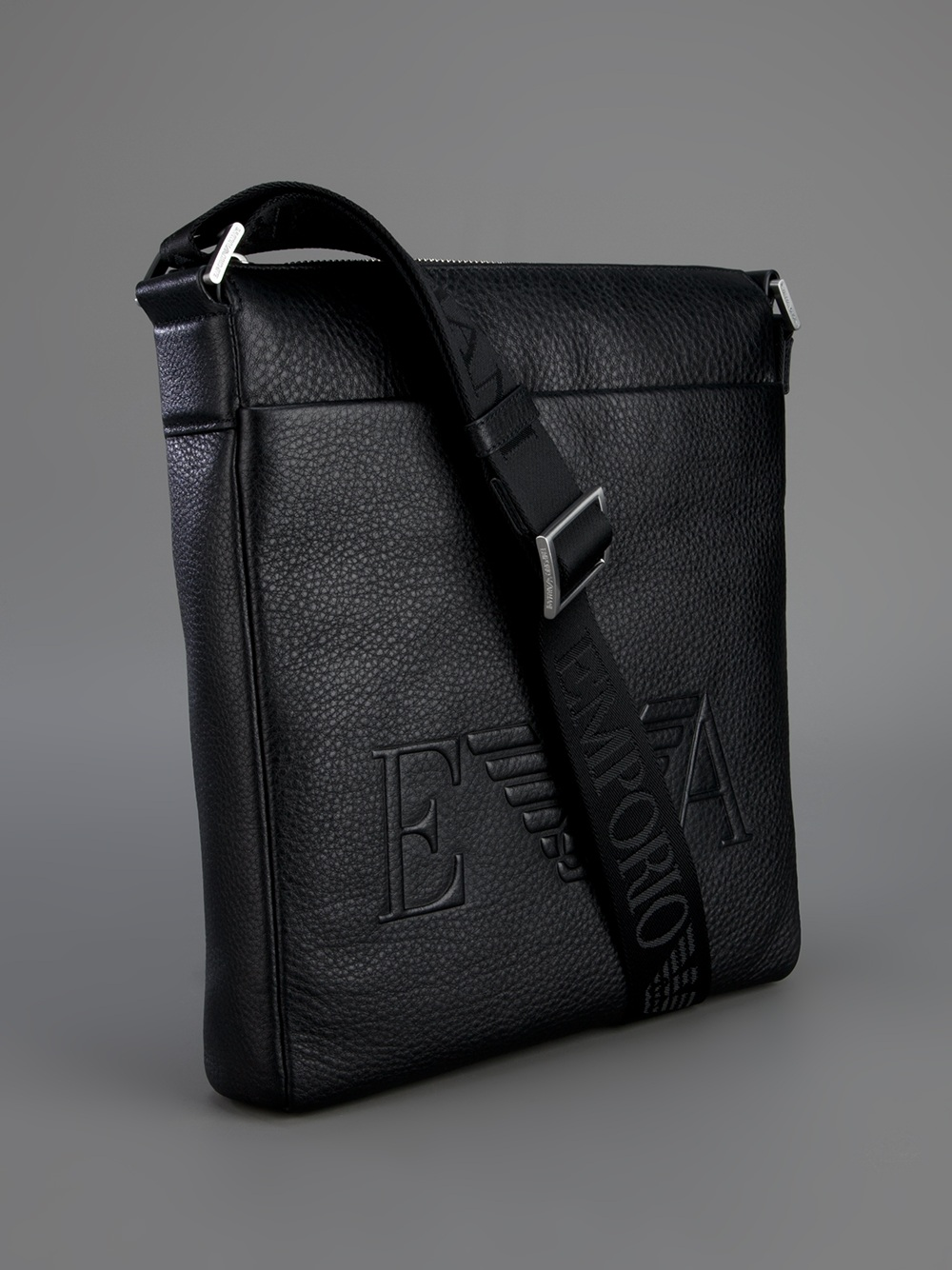 ab970cdd60f9 Emporio Armani Messenger Bag in Black for Men - Lyst