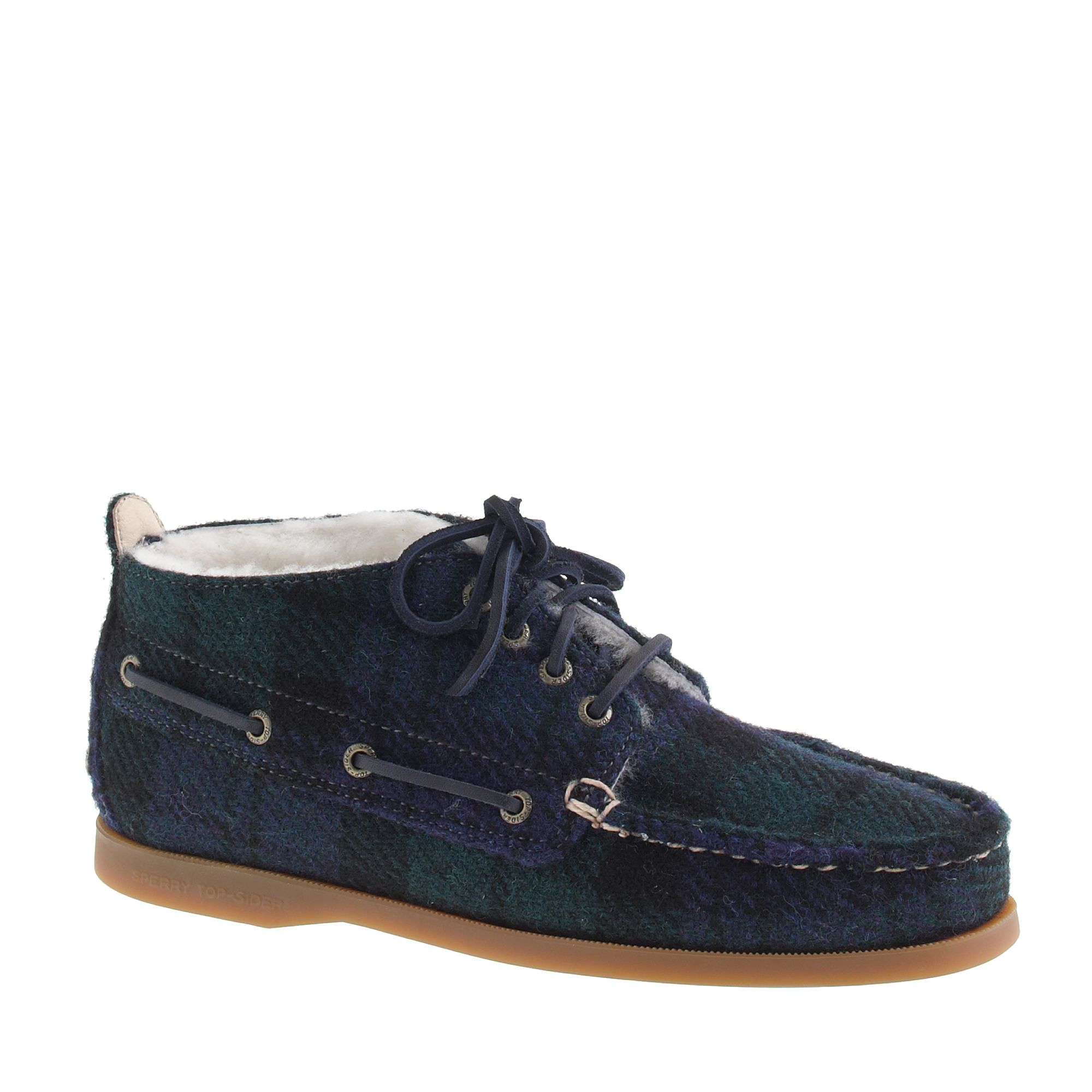 Sperry topsider for shearling lined wool chukka for Jcrew com
