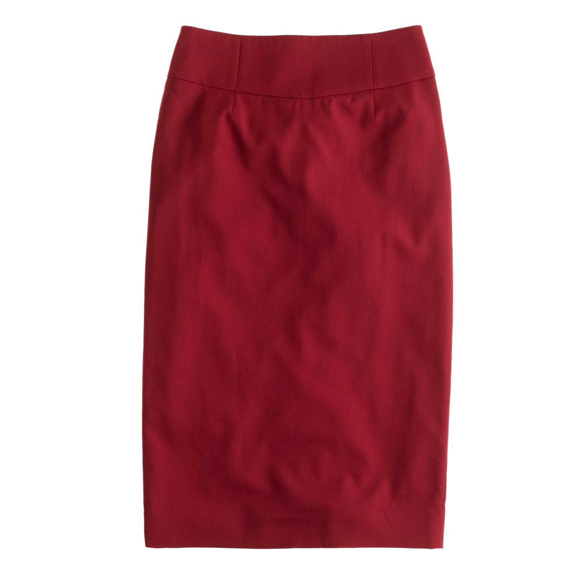 j crew telegraph pencil skirt in 120s wool in