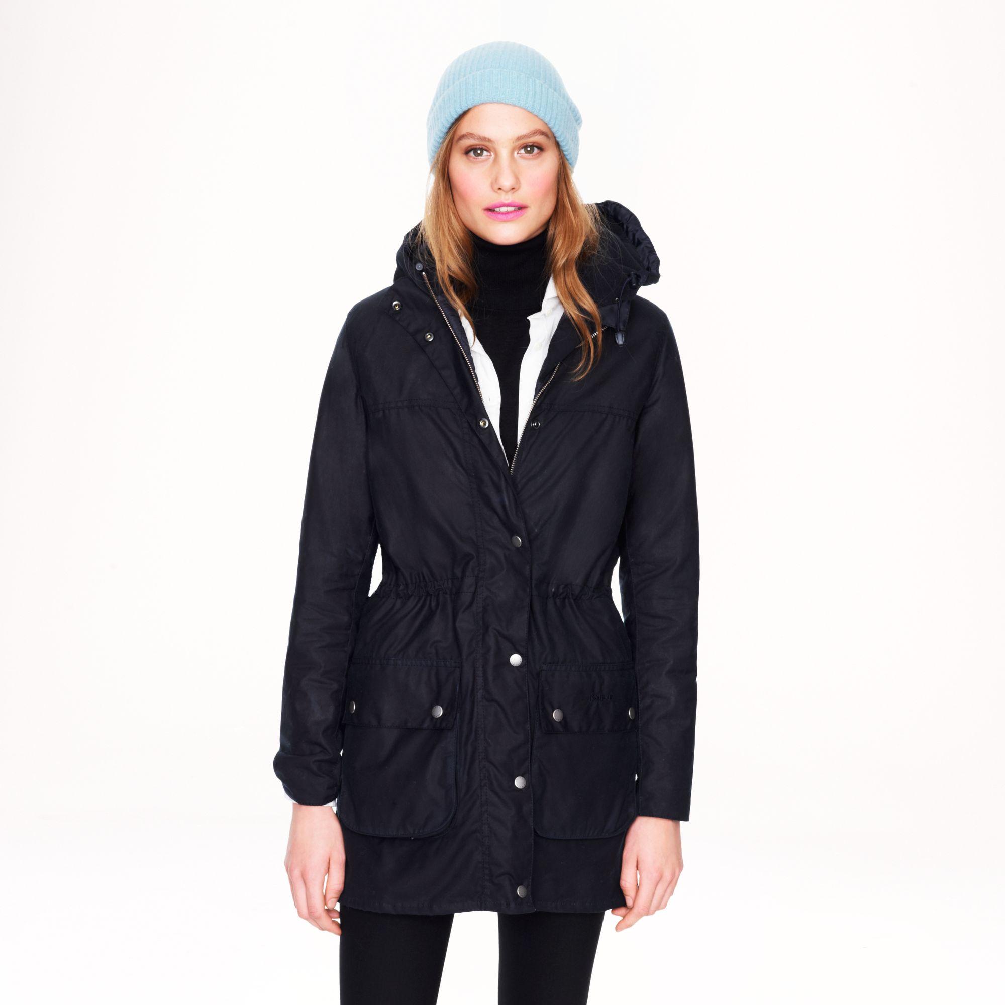 jew barbour winter durham jacket in blue lyst #0: jcrew navy barbour winter durham jacket product 1