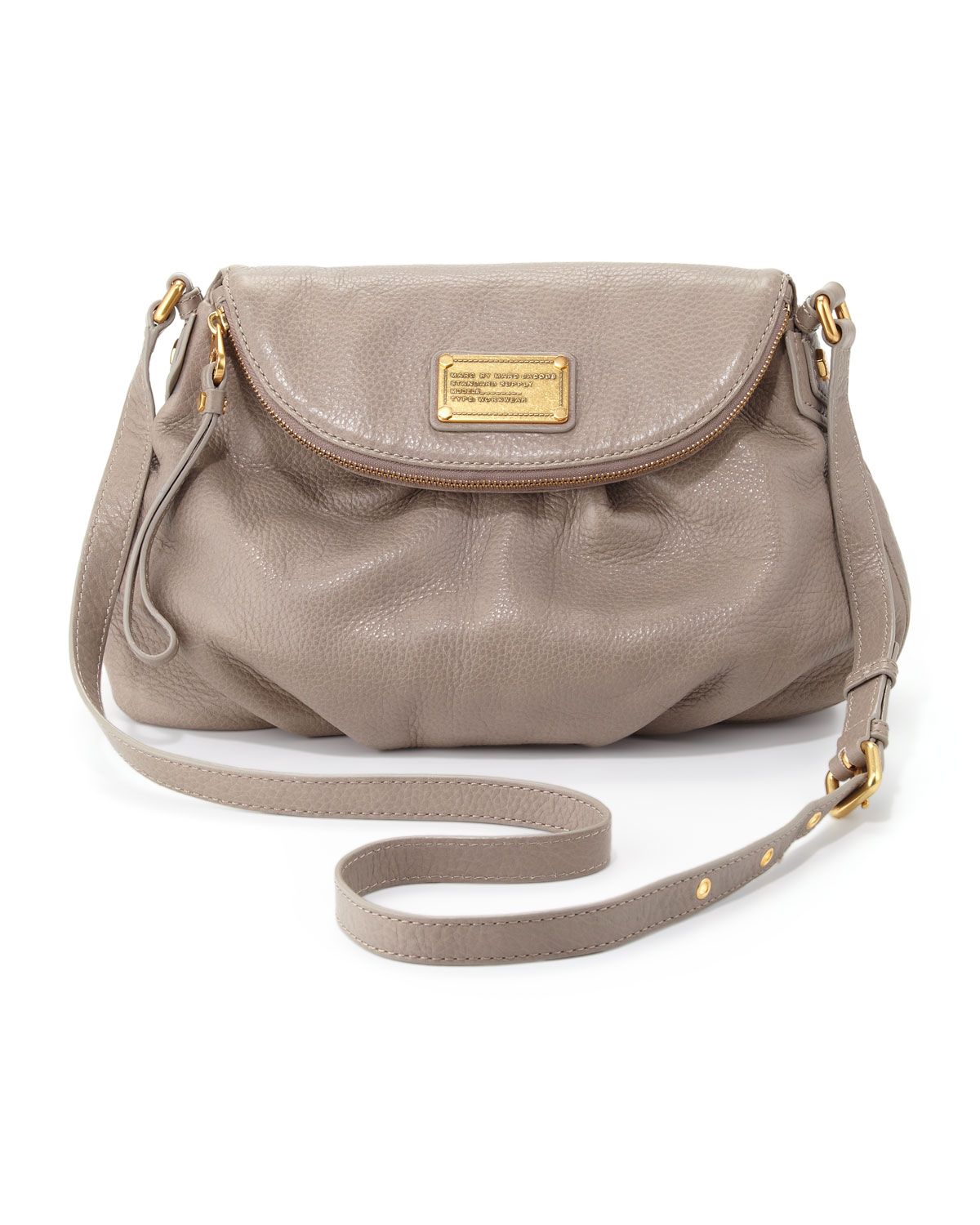 c26c70309bdb Lyst - Marc By Marc Jacobs Classic Q Natasha Crossbody Bag Taupe in ...