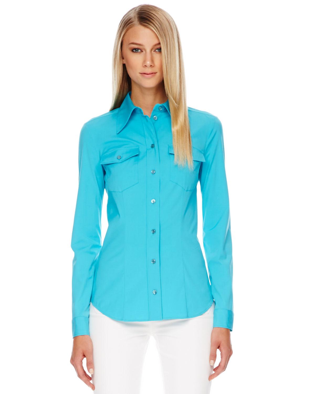 Michael kors pool colored dress shirt