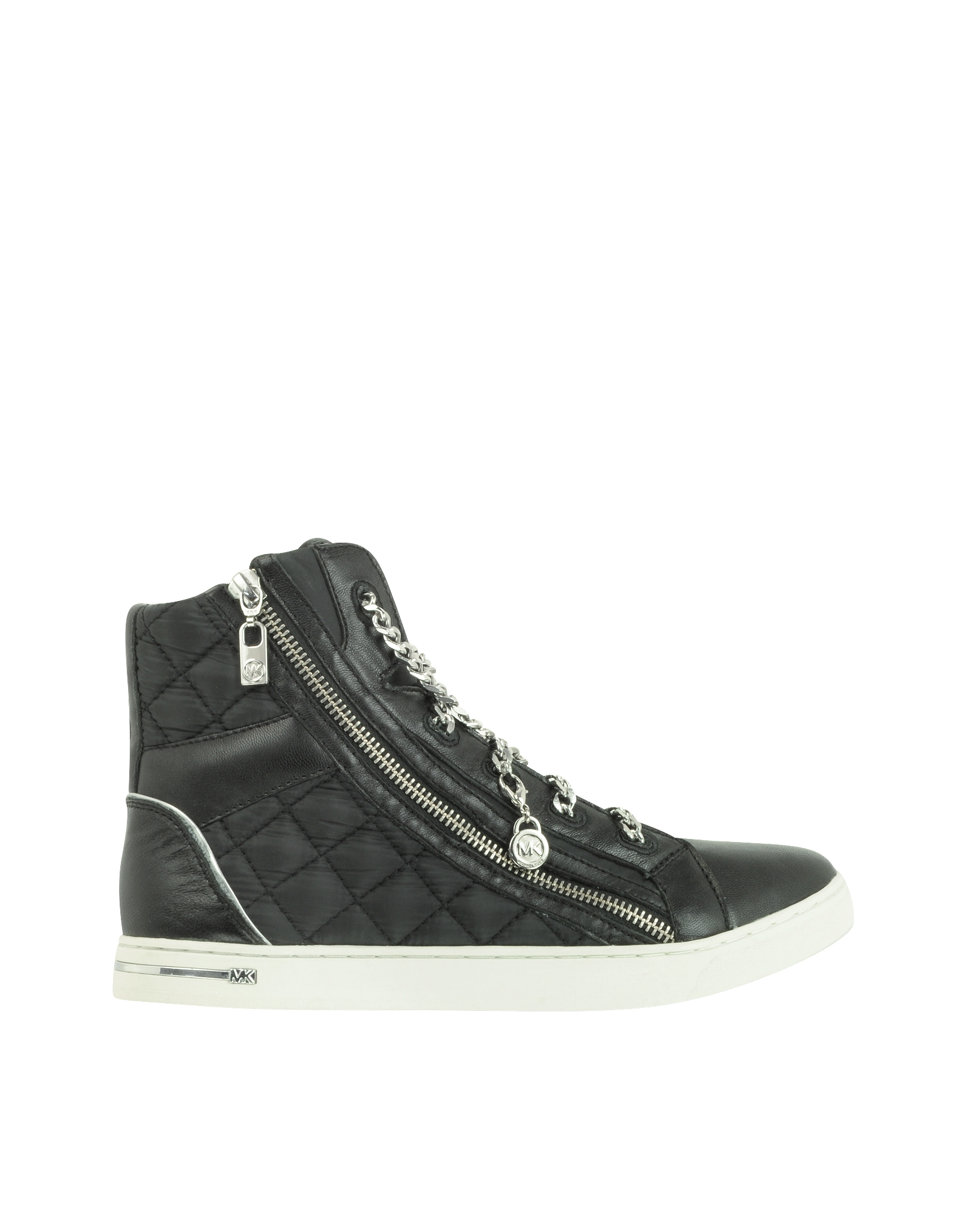Lyst - Michael kors Urban Chain High Top Quilted Nylon Sneaker in ... : michael kors quilted sneakers - Adamdwight.com