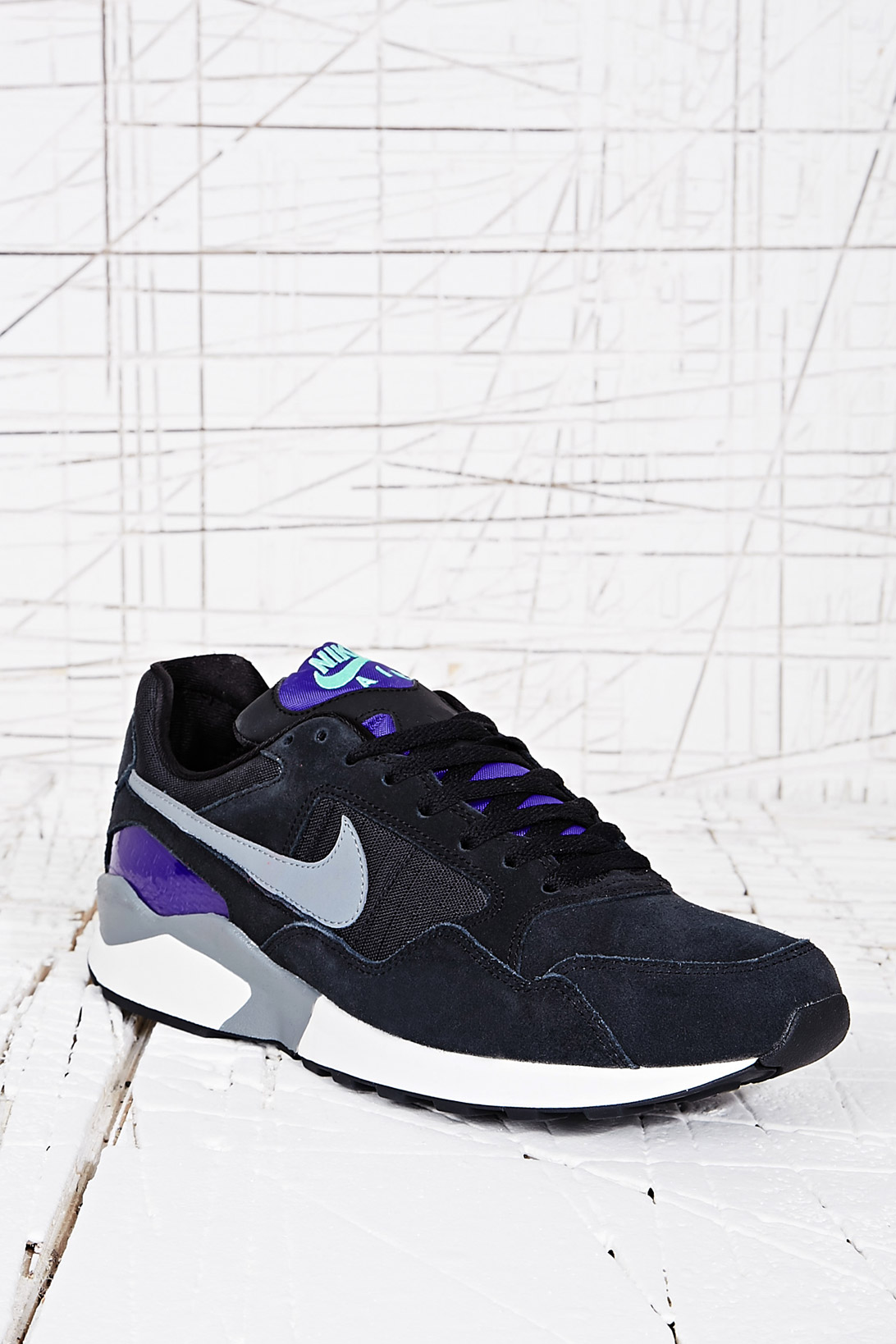 new arrival 473f7 368f3 Nike Air Pegasus 92 Trainers in Black Amp Purple in Blue for Men - Lyst