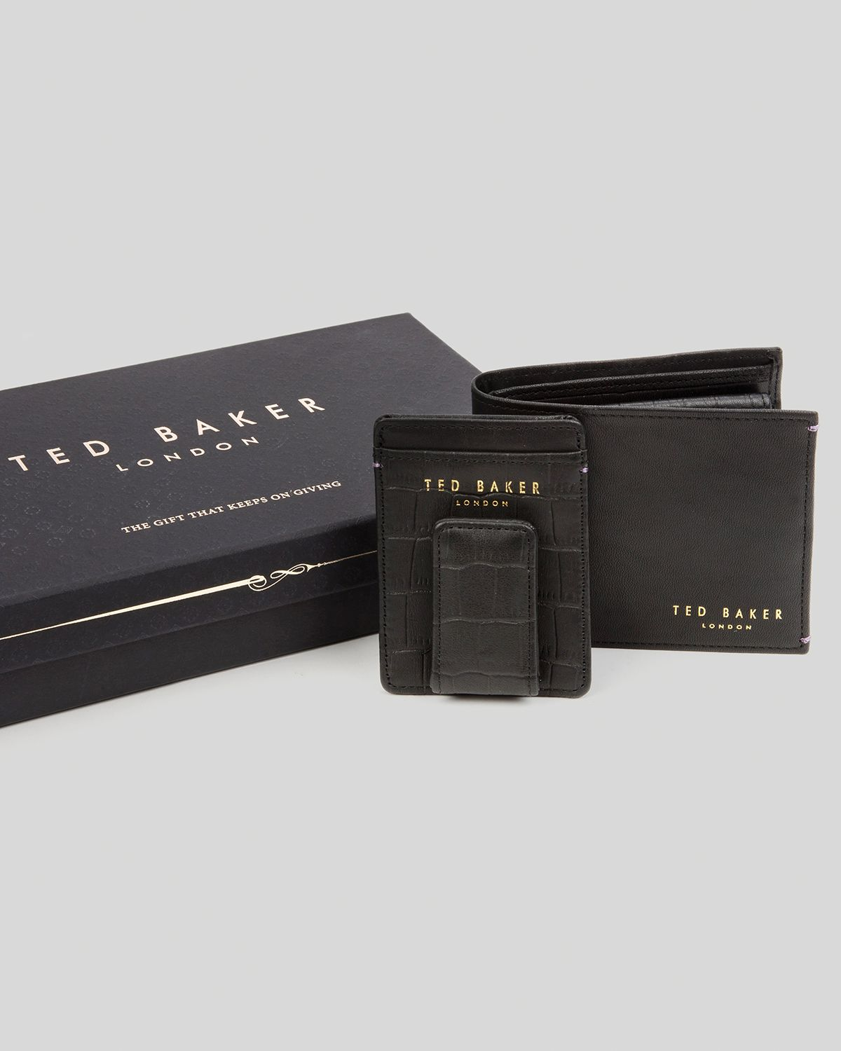 c2c1378788a Ted Baker Goliath Bifold Wallet and Card Case Set in Brown for Men ...
