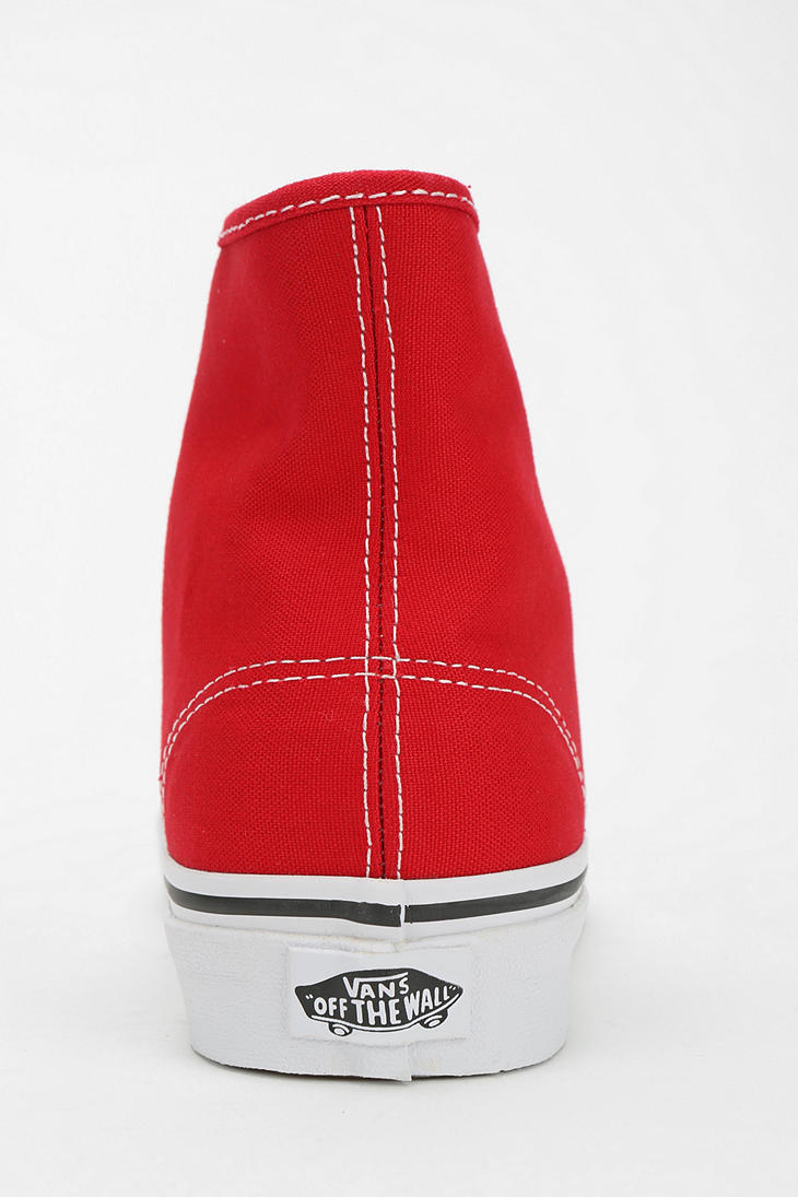Canvas Authentic Sneaker Outfitters For Urban Red Hightop Vans Men qzMLpSVGU