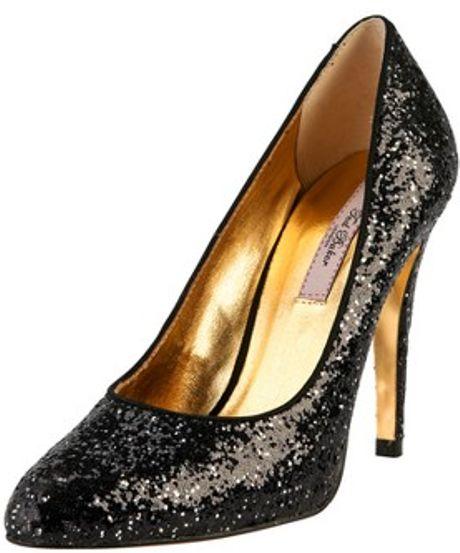 ted baker ted baker cinders glitter court shoe in black