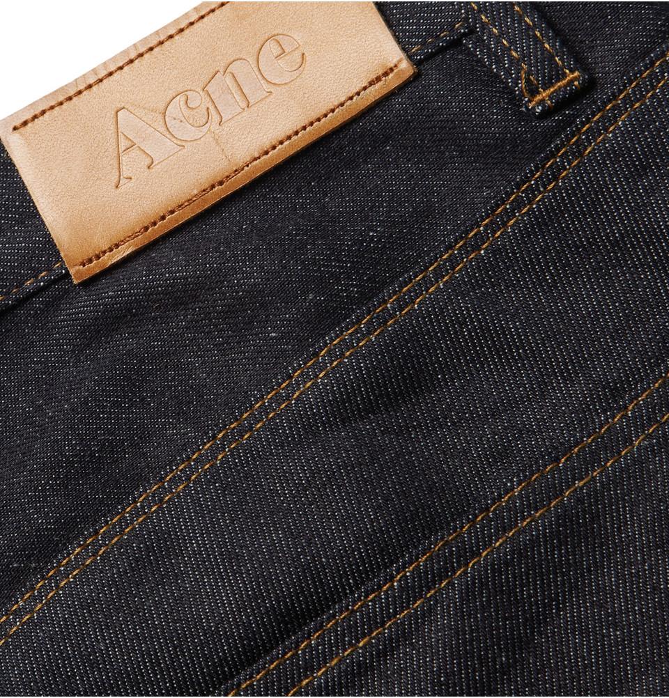 Acne Studios Max New Raw Slim-Fit Dry-Denim Jeans in Blue for Men