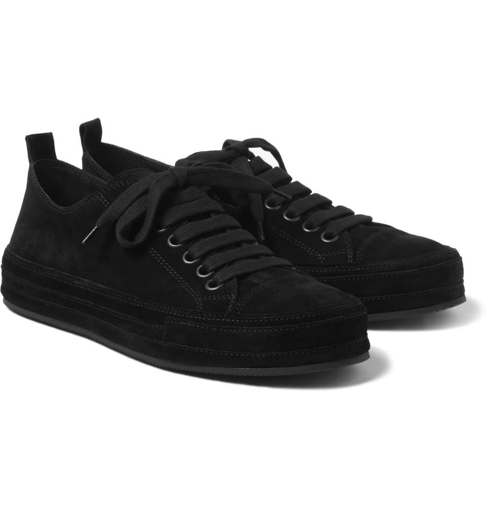 Ann Demeulemeester Suede Sneakers in Black for Men - Lyst