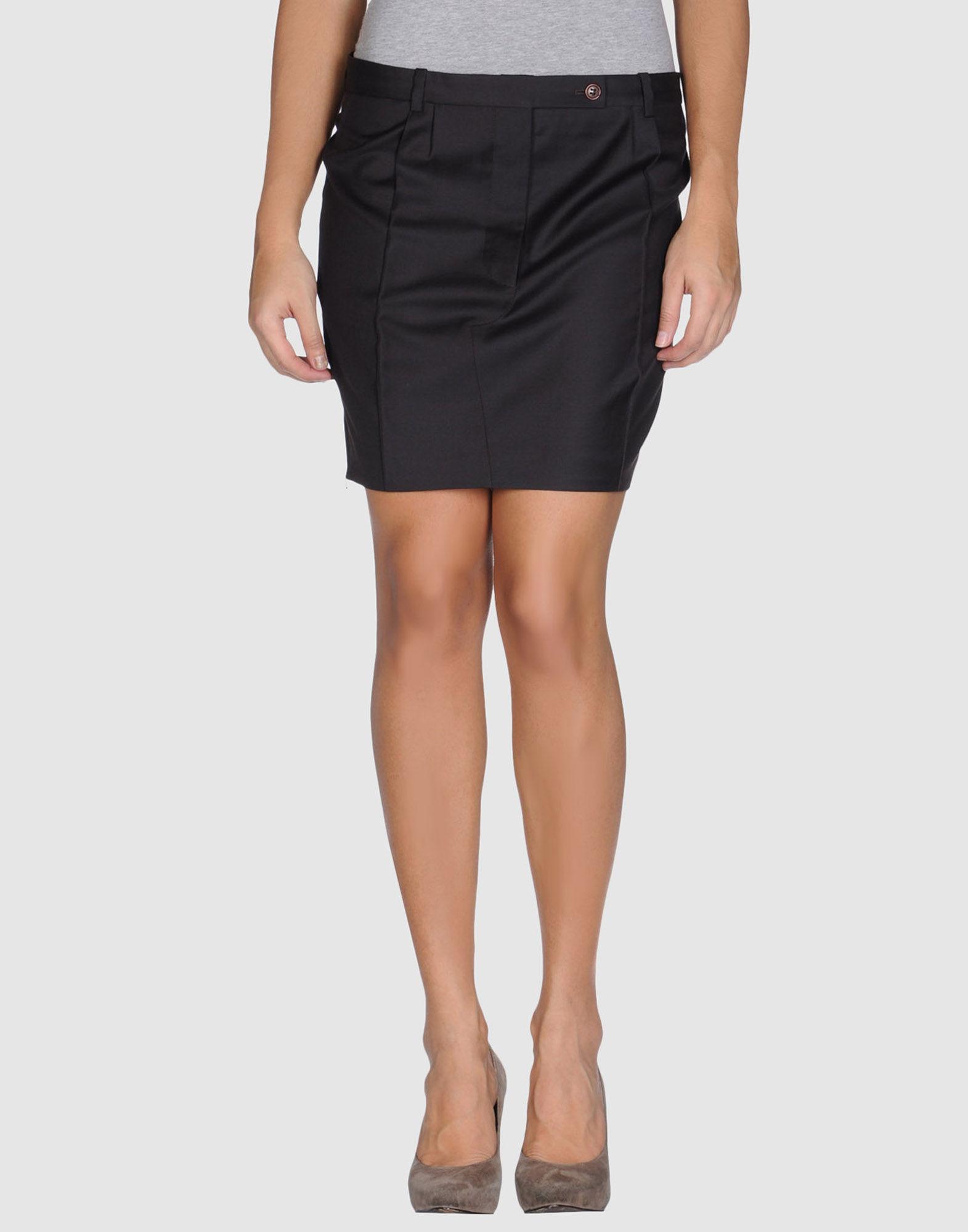 valerie hash knee length skirt in brown brown
