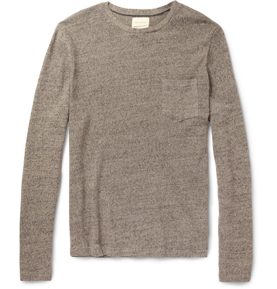 Lyst Billy Reid Phillip Cotton And Linen Blend Sweater