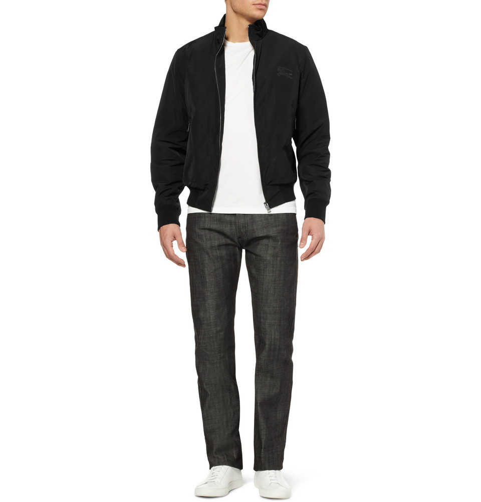 Burberry Brit Showerproof Bomber Jacket in Black for Men