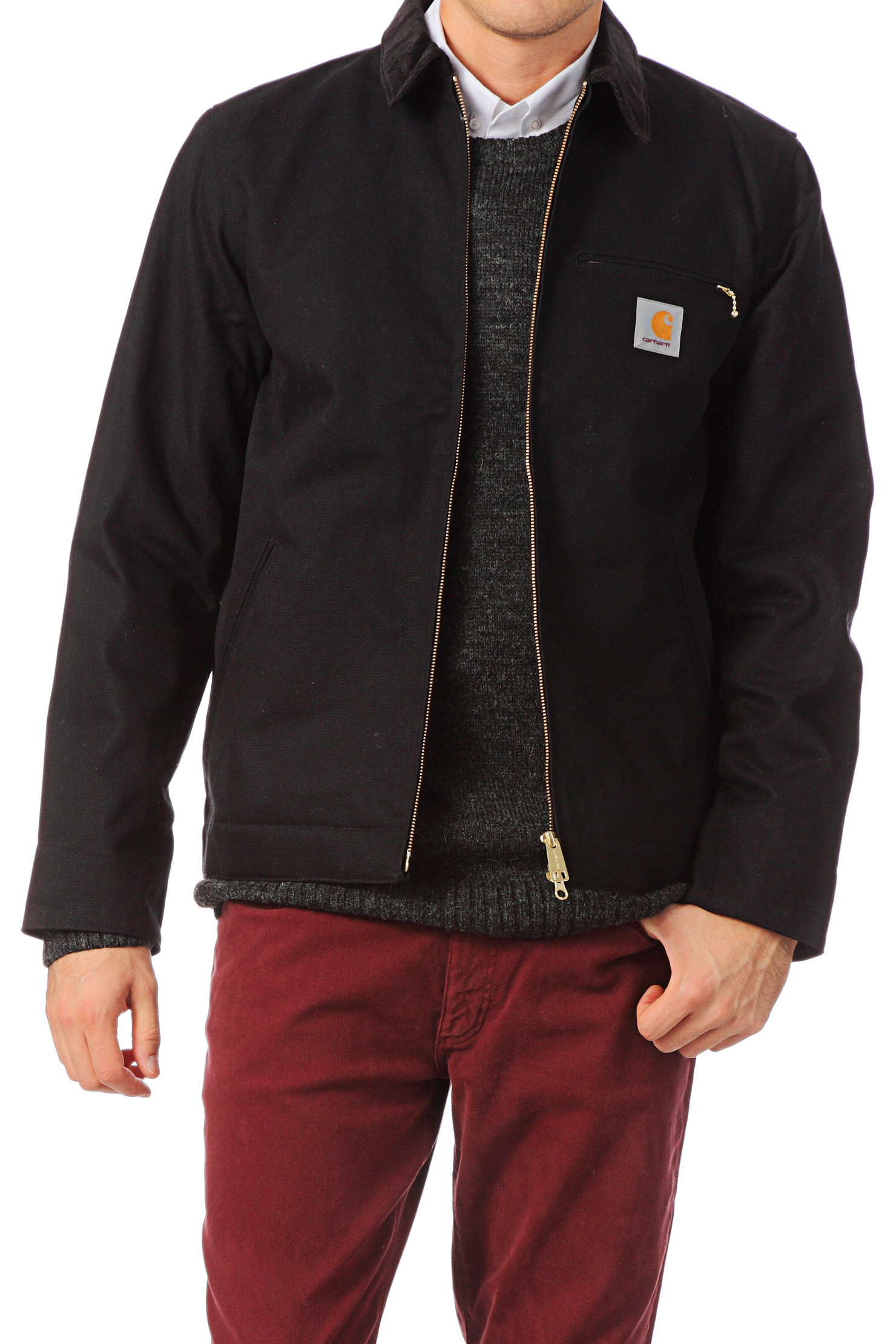 Carhartt Blazer Detroit Jacket In Black For Men Lyst