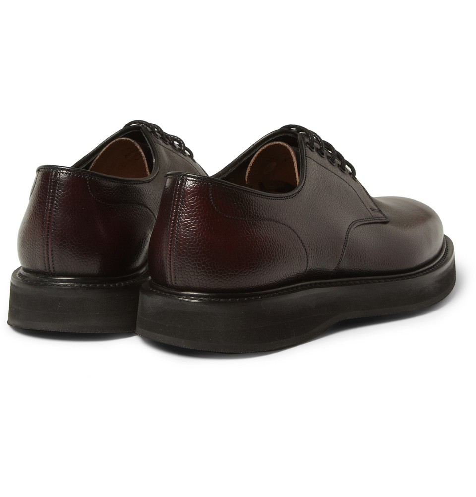 Church's Leyton Pebble-Grain Leather Derby Shoes in Red for Men