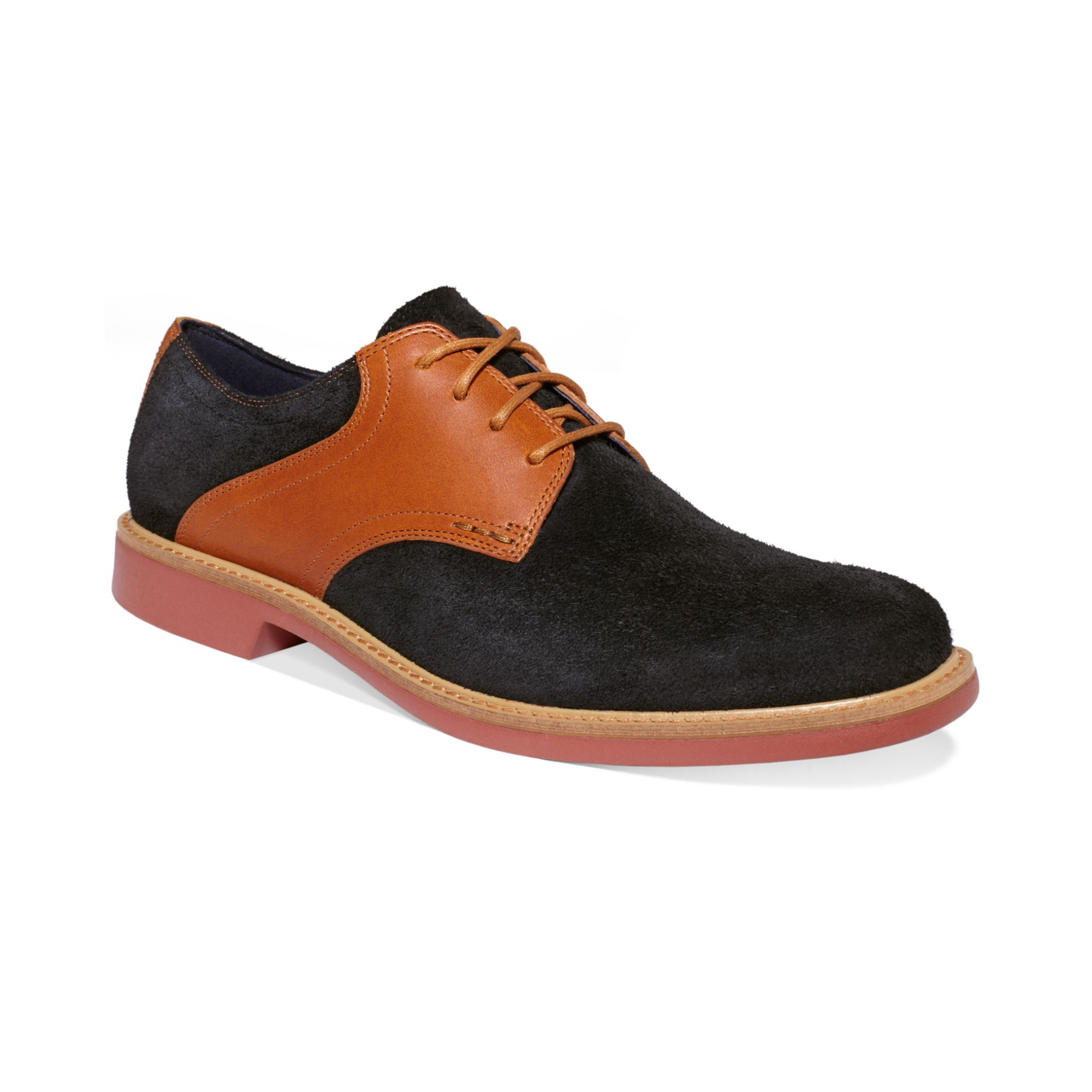 Brown Suede Saddle Shoes