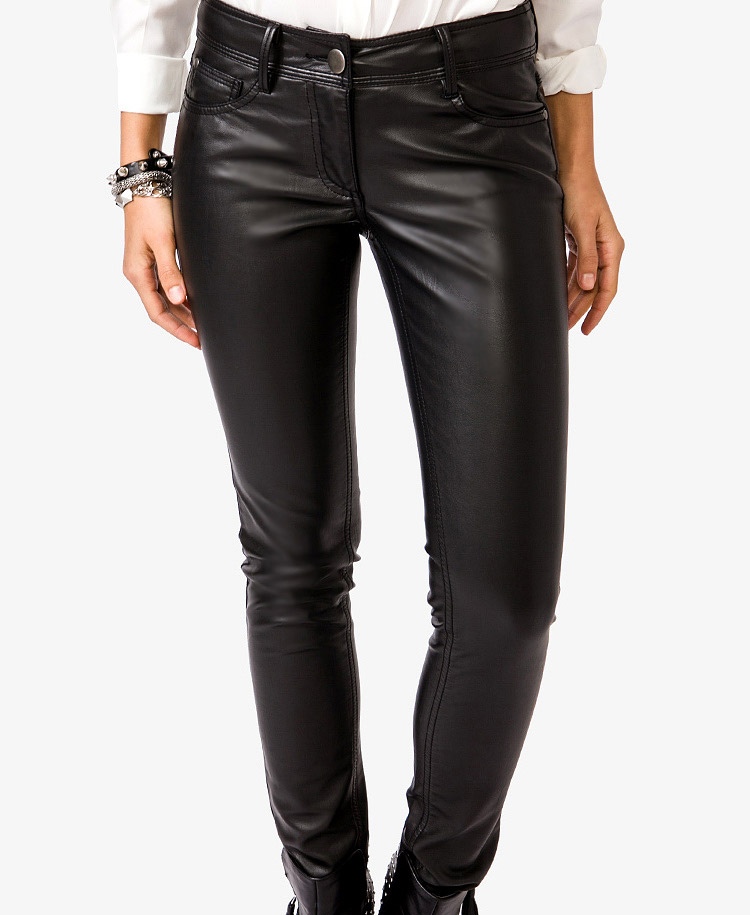 13 Faux Leather Pants That Look Like The Real Deal The politically correct term is vegan leather.