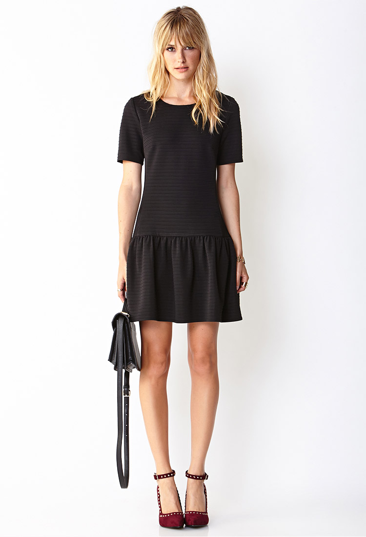 Forever 21 Flirty Drop Waist Dress in Black | Lyst - photo #46