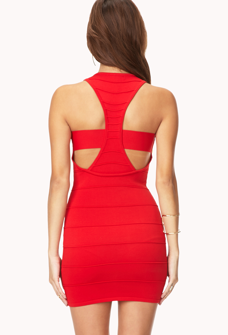 Forever 21 Bold Bodycon Dress In Red Lyst