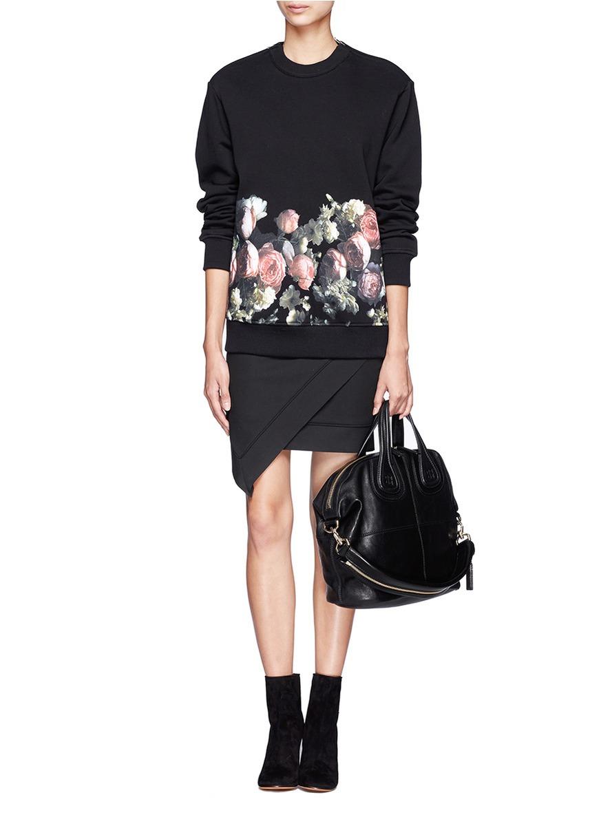 8b5b16860d Lyst - Givenchy Nightingale Medium Leather Satchel in Black