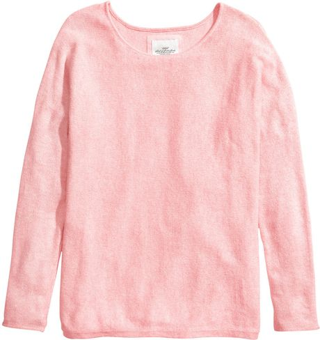 H&m Knitted Jumper in Pink