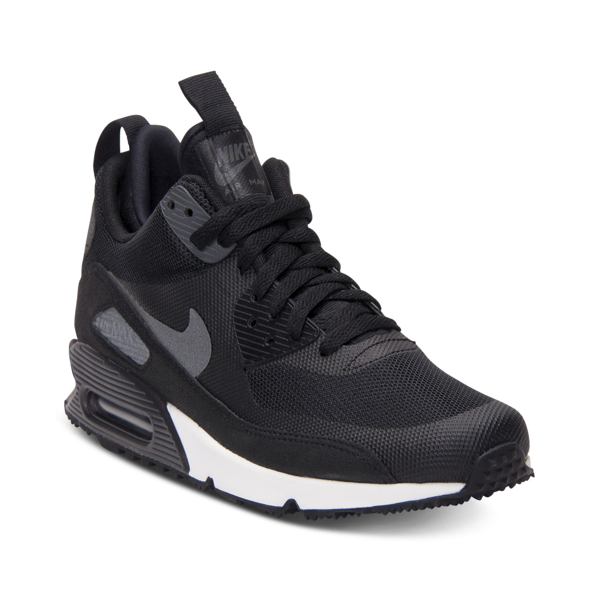 size 40 e0744 7710f Nike Air Max 90 Mid No Sew Running Sneakers in Black for Men (BLACK/
