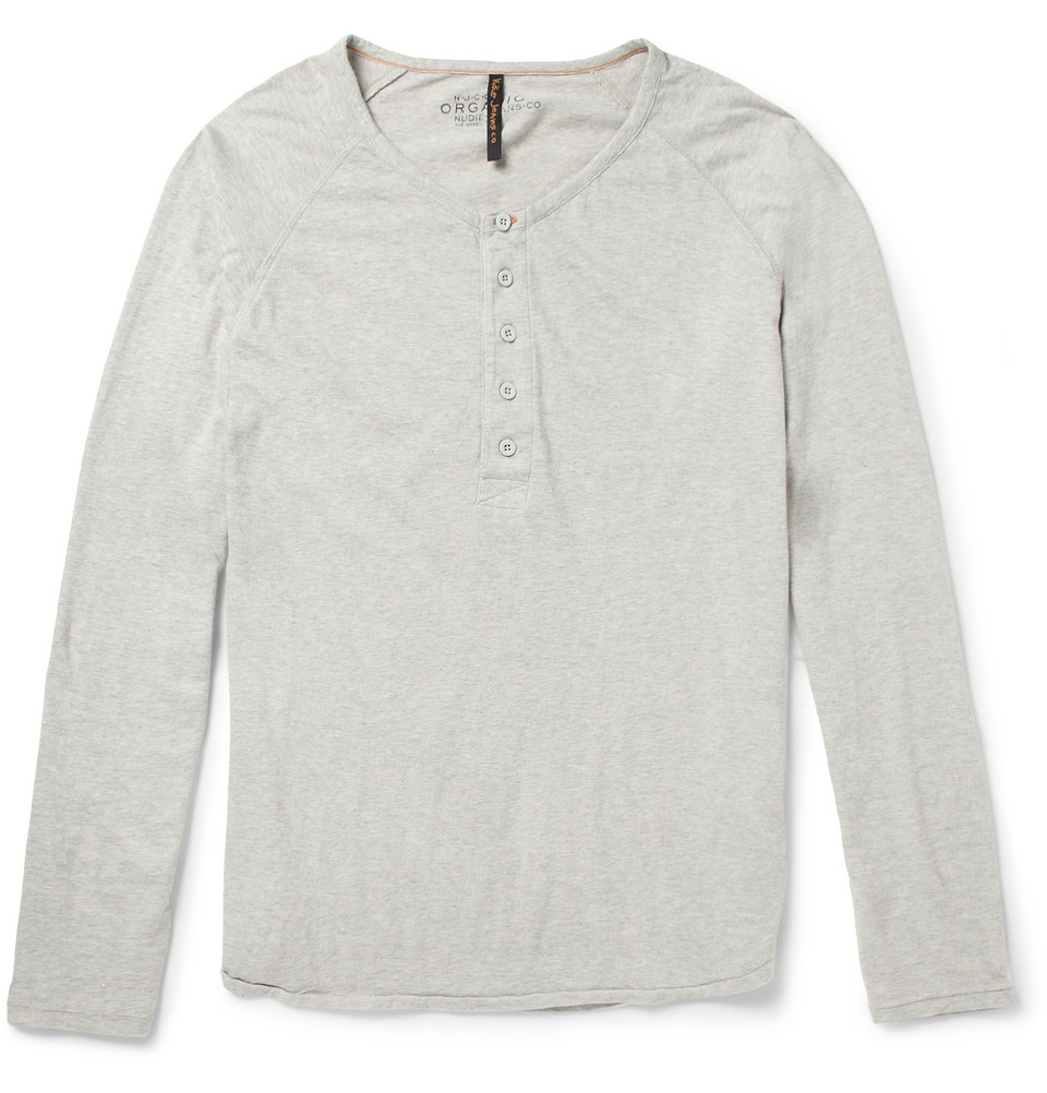 926fc573 Lyst - Nudie Jeans Fairtrade Organic Cotton-Jersey Henley T-Shirt in ...