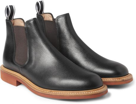 oliver spencer full grain leather chelsea boots in black for men. Black Bedroom Furniture Sets. Home Design Ideas
