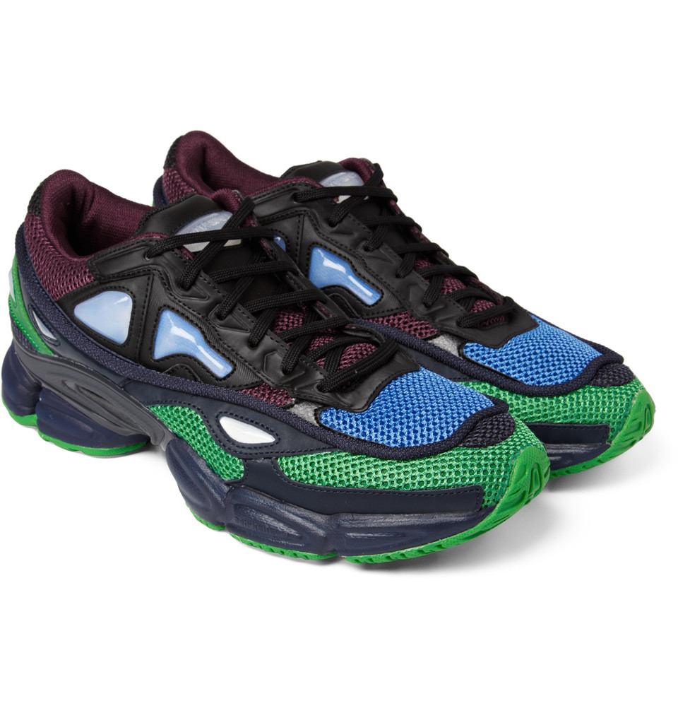 raf simons ozweego 2 sneakers in green for men lyst. Black Bedroom Furniture Sets. Home Design Ideas