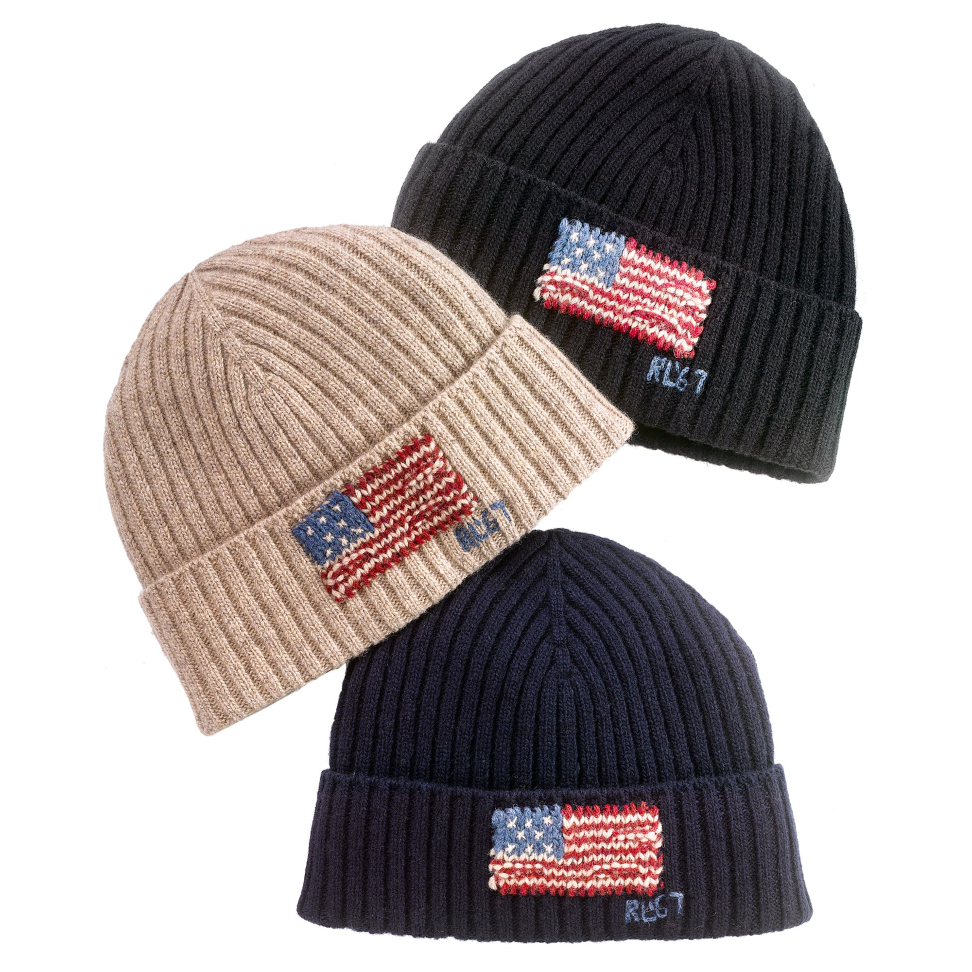 Lyst - Ralph Lauren American Flag Ribbed Beanie in Natural for Men 5eed56d7ece