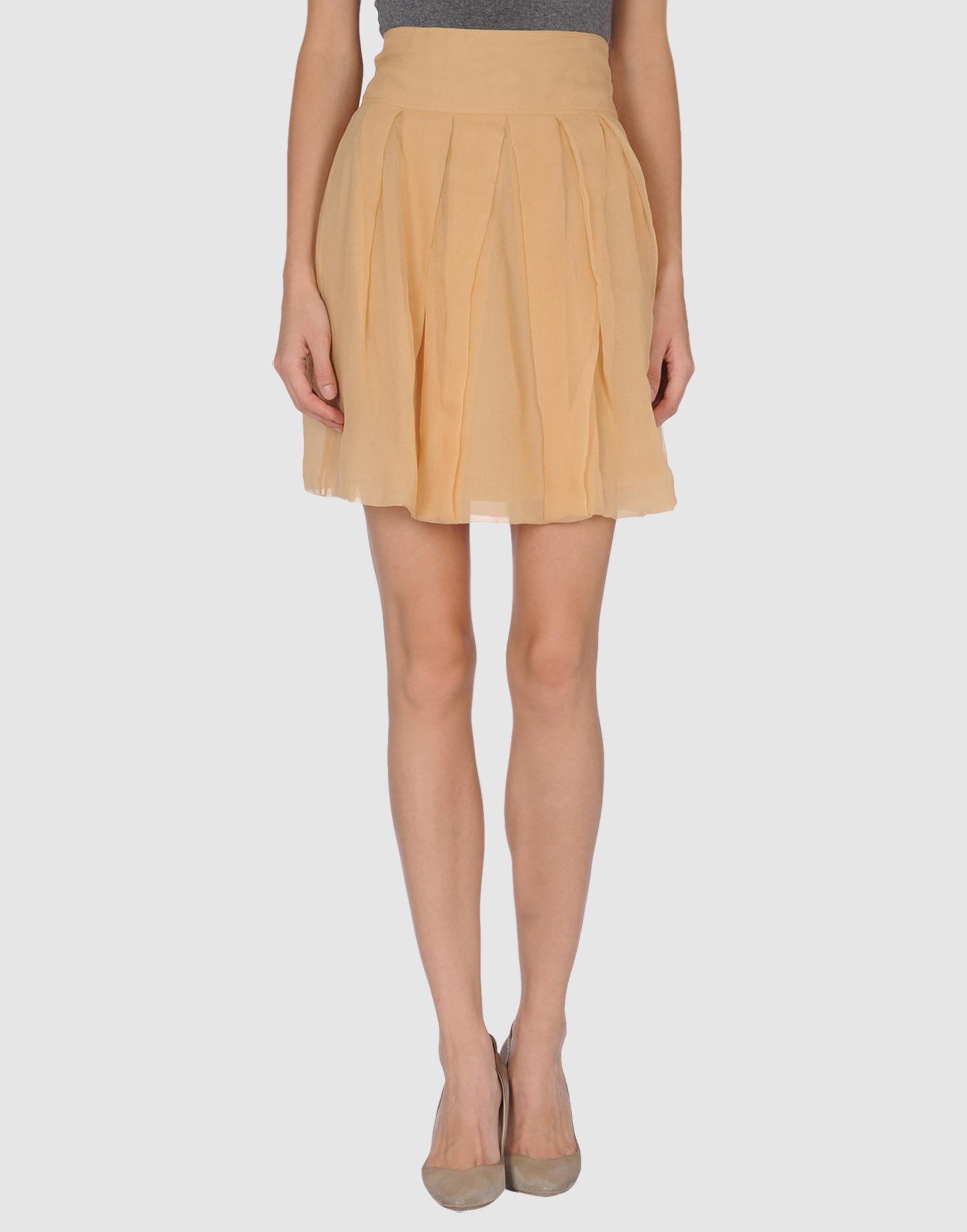 kokosalaki knee length skirt in khaki sand lyst