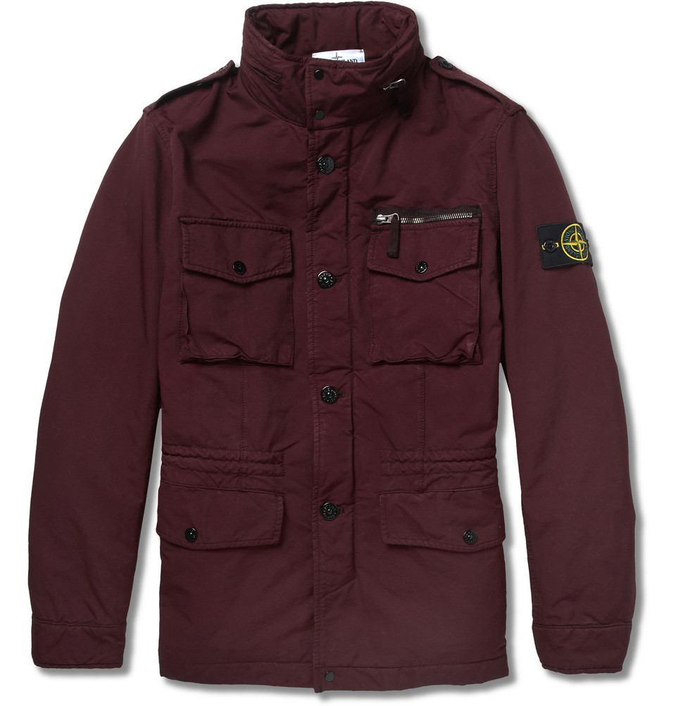 stone island davidtc quilted field jacket in red for men. Black Bedroom Furniture Sets. Home Design Ideas