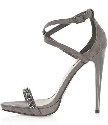 2390c2cc47 Topshop Grey Sandals ~ Greek Sandals