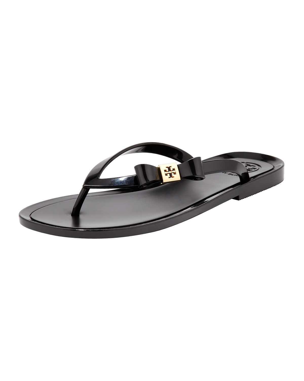 Black jelly sandals with bow - Gallery