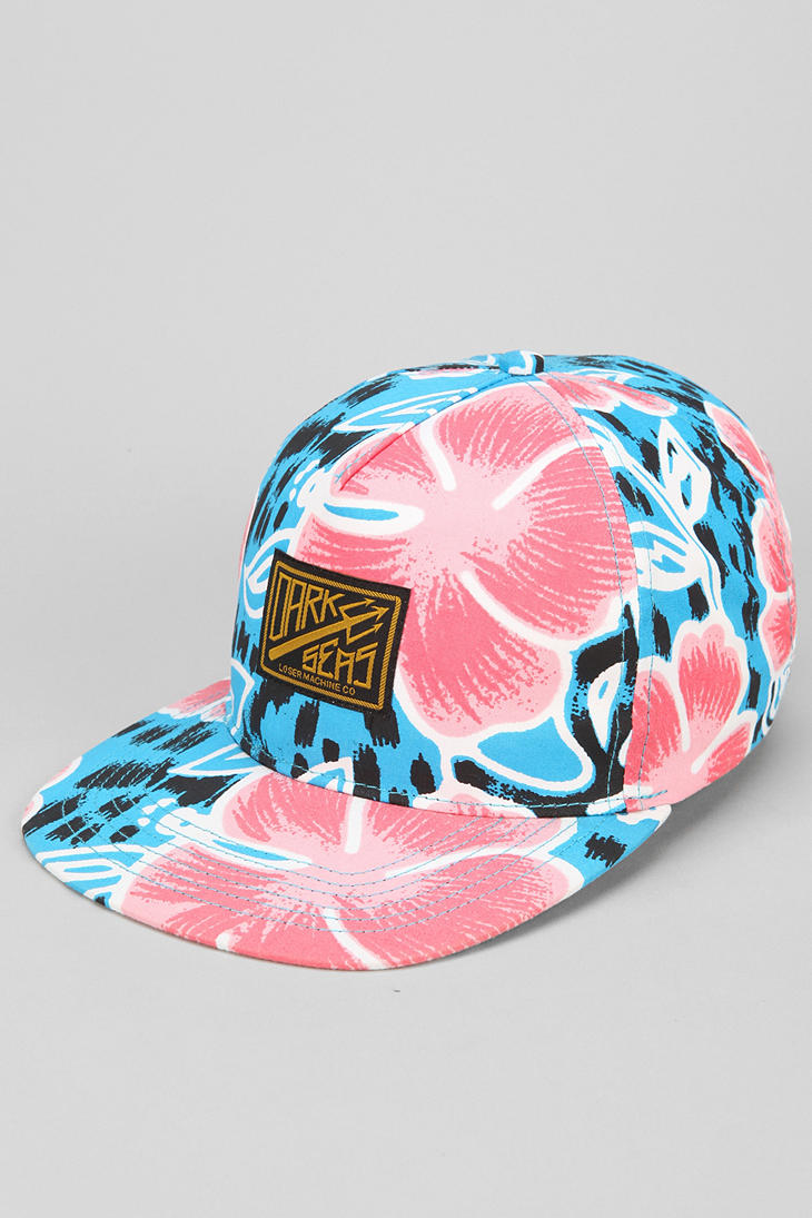 b8397d4755394 Lyst - Urban Outfitters Dark Seas Floral Pilot Ii Hat in Blue