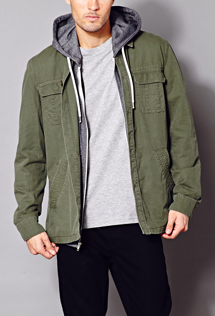 Forever 21 Minimalist Military Jacket in Green for Men | Lyst