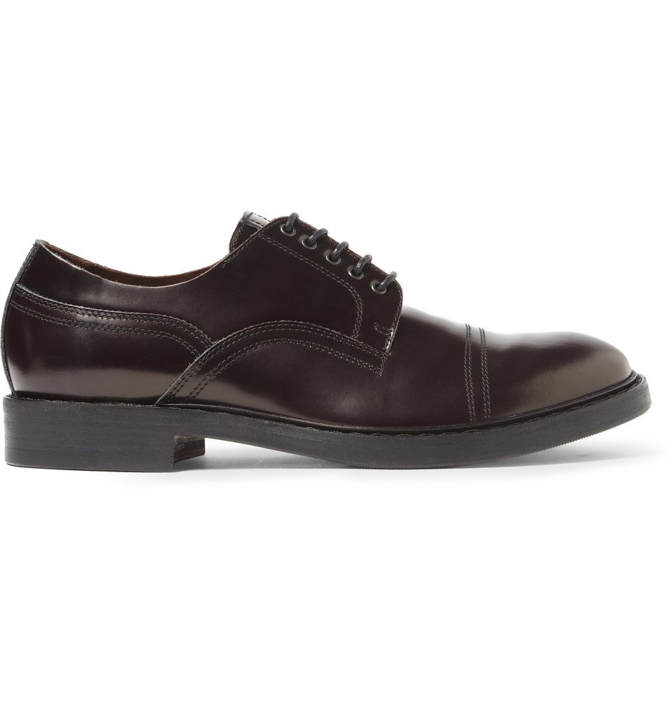 Acne Studios Burnished Leather Derby Shoes in Brown for Men