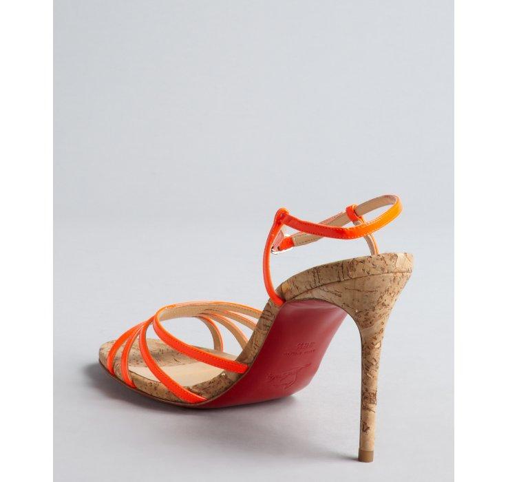 louboutin orange sandals