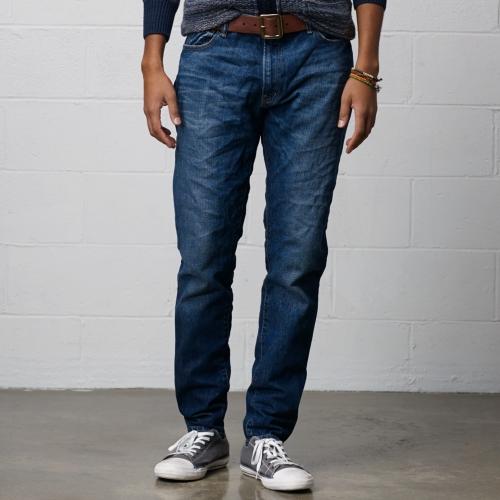 lyst denim supply ralph lauren tapered straight mentmore jean in blue for men. Black Bedroom Furniture Sets. Home Design Ideas