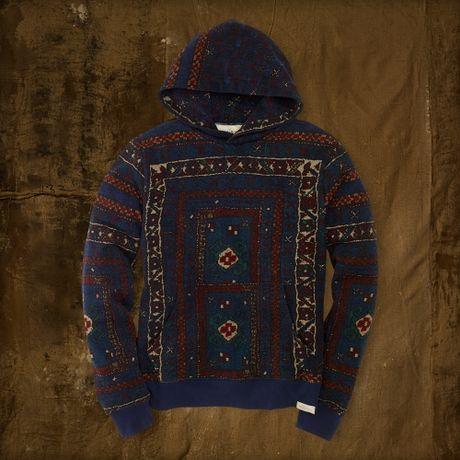Denim & Supply Ralph Lauren Suzani Fleece Hoodie in Blue for Men