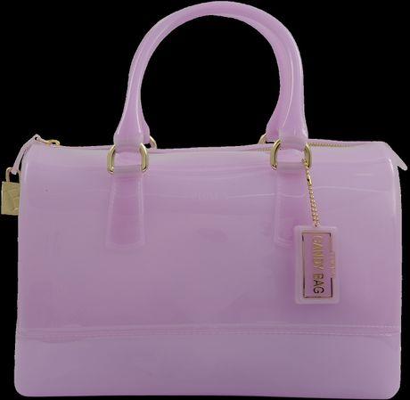 Furla Candy Medium Bowling Bag in Purple