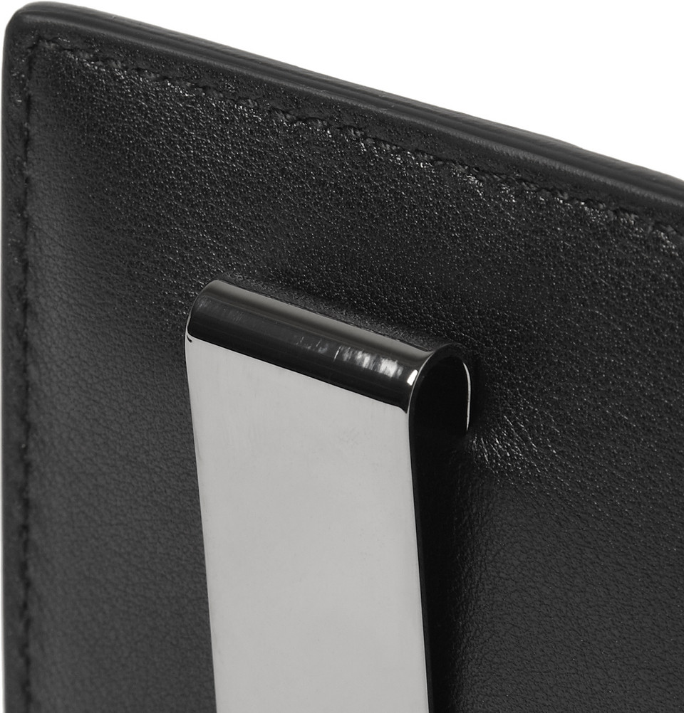 8a19d97071883 Lyst - Gucci Embossed Leather Card Holder and Money Clip in Black ...