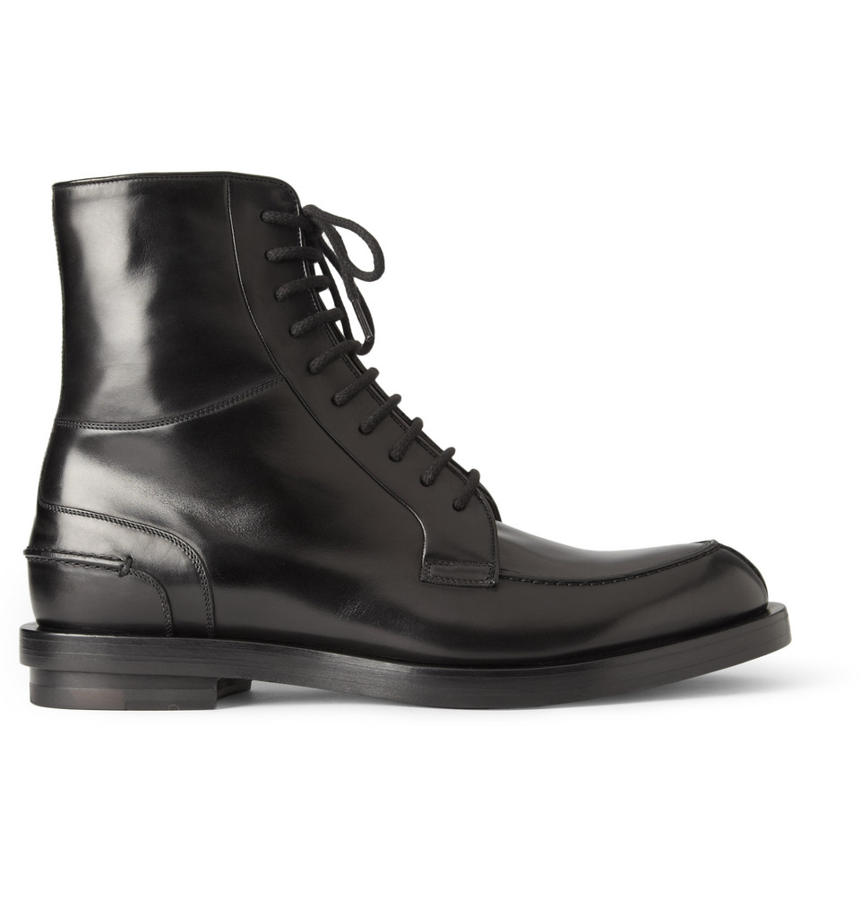 Gucci Leather Split Toe Laceup Boots In Black For Men Lyst