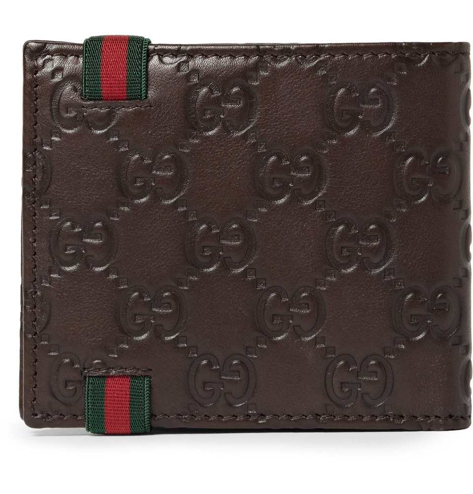 Lyst - Gucci Ssima Leather Wallet in Brown for Men