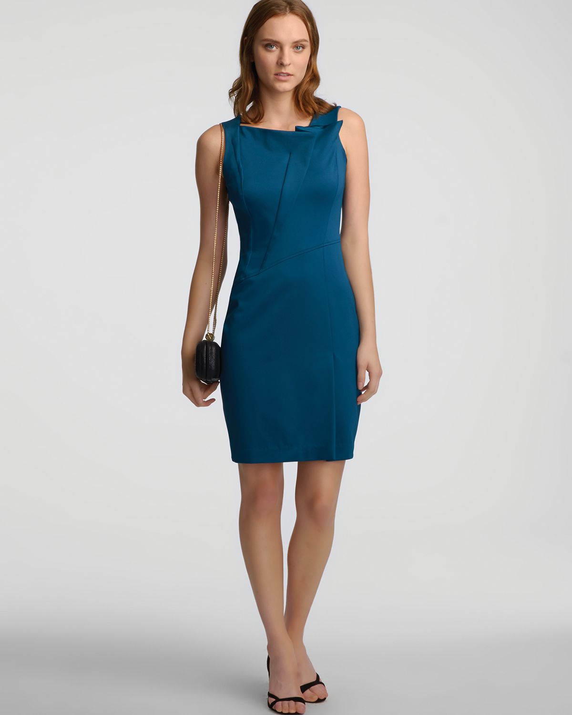 Halston Heritage Blue Dress