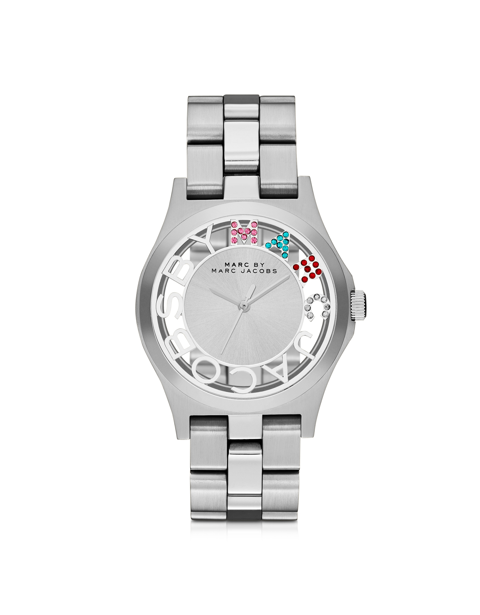a4c41ceb6 Lyst - Marc By Marc Jacobs Henry Skeleton Glitz Bracelet Watch in ...