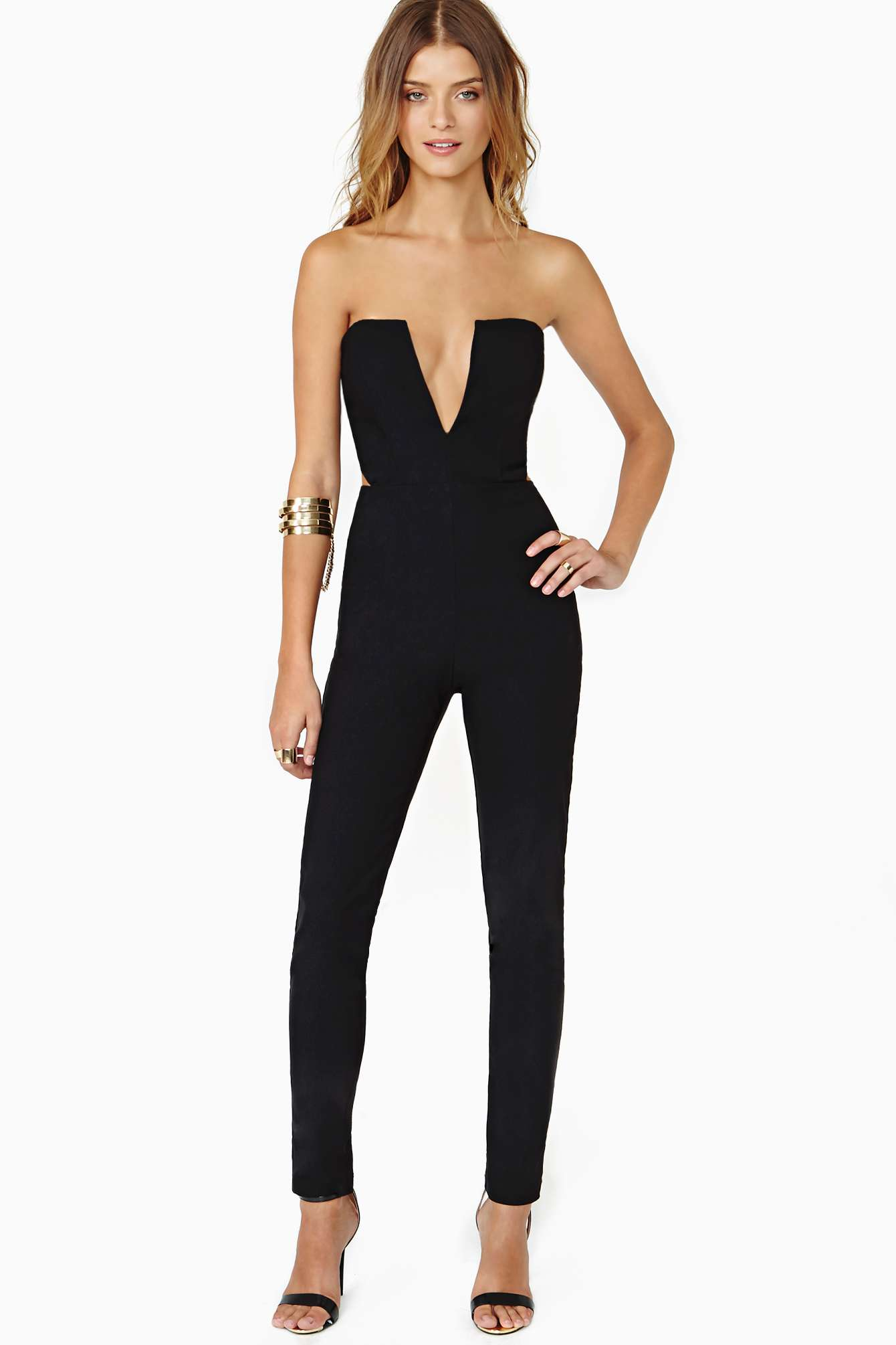Lyst - Nasty Gal Midnight Run Jumpsuit In Black-8565