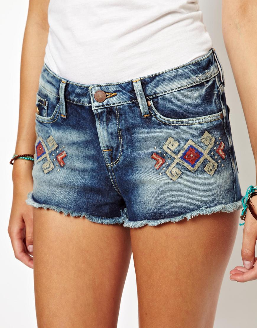 Happy Socks Pepe Jeans Embroidered Denim Shorts in Blue ...